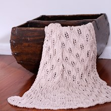 Just Sprouted - Hand Knitted Blanket Leaf - Beige