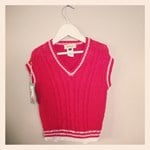 Knitted Vest - Bamboo and cotton - Red