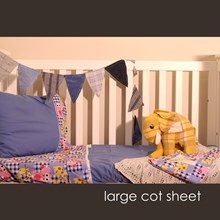 Just Sprouted - Large Cot Sheet -Giraffe