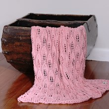 Just Sprouted - Hand Knitted Blanket Leaf - Pink