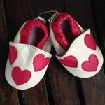 Leather Soft Pre Walker Shoes - hearts