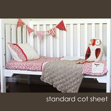 Just Sprouted - Standard Cot Sheet - Red Floral