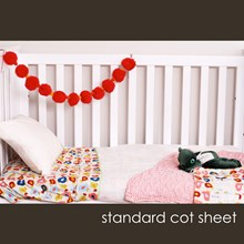Just Sprouted - Standard Cot Sheet - Birds