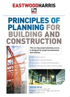 Principles of Planning for Building and Construction - PMI Registered Course Number  3001-POP, 7 PDUs