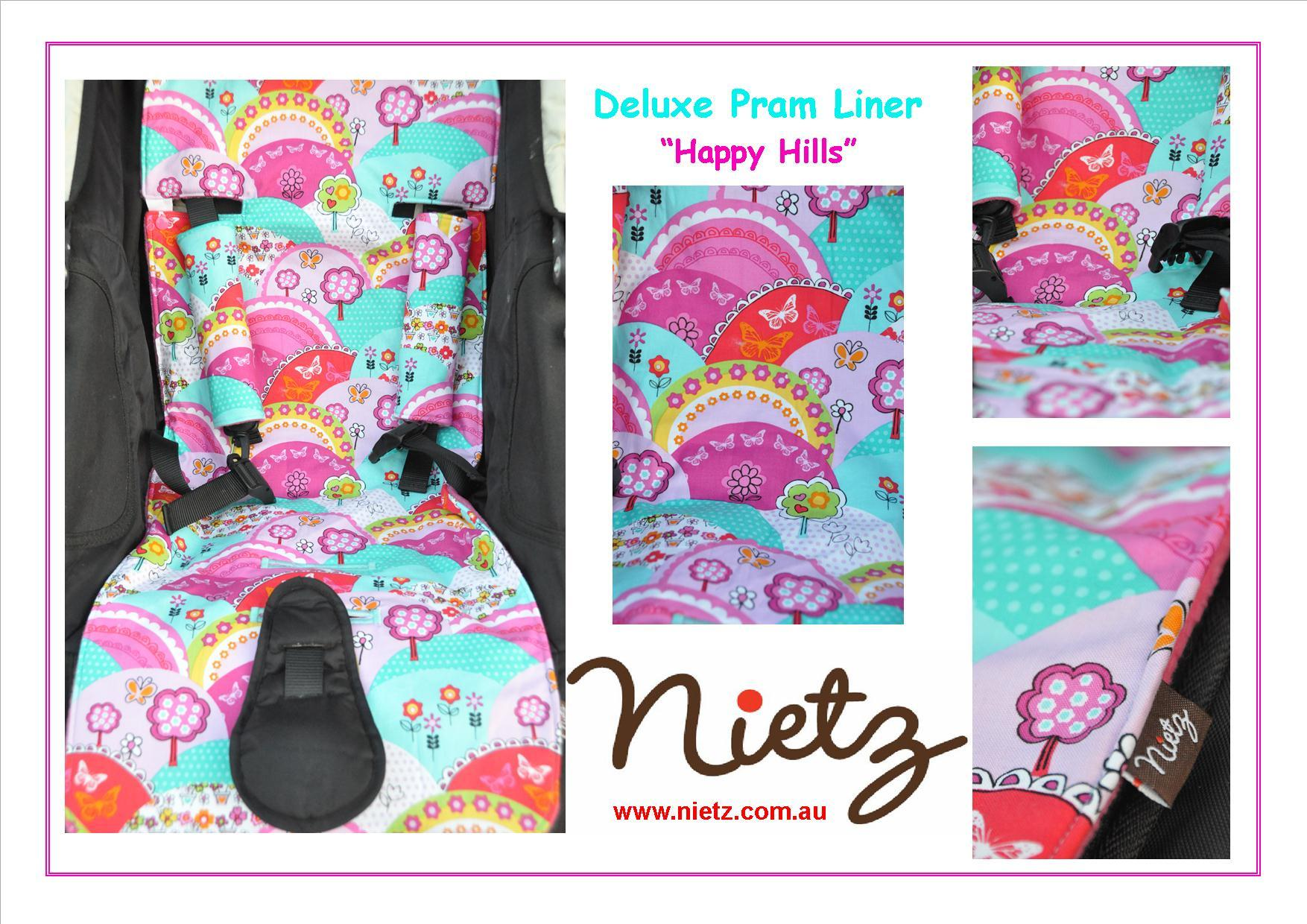 Nietz Pram Liners Baby Blossom Modern Cloth Nappies