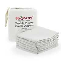 Blueberry Organic Gauze Flat Nappies - 6 Pack