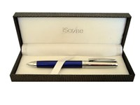 i-Scribe - Monash Blue and Chrome Ballpoint