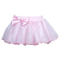 Pretty Sparkle Bow Play Tutu skirt, Pale Pink, Matches Budget Leotard Pale Pink, (Sparkles Under Lights)