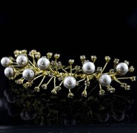 Diamonte and Pearl Tiara, Colours: Silver, Gold, 4009