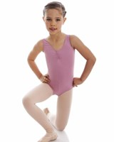 CLEARANCE, Energetiks Gathered Front Leotard, Dusty Pink, Child's, CL04