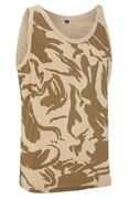 100% Cotton Basic British Desert Camo Vest Top Unisex