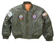 Kids and Youth TOP GUN Bomber Jacket Olive