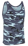100% Cotton Basic Midnight Camo Vest Top Unisex