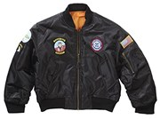 Kids and Youth TOP GUN Bomber Jacket Black
