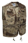 Camo Multi-Pocket Fishing Vest US 6 Desert