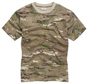 100% Cotton Basic Military Style T-shirt -Multi-Cam