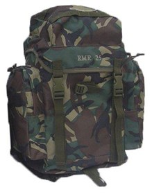 New Army Military Style Hiking Outdoor Backpack Rucksack Bergen Daypack - Woodland Camo
