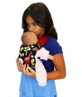 Kids Angle Pack Doll Carrier - Red or Blue Safari