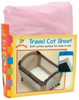 Goldbug - Travel Cot Fitted Sheet Assorted Colours