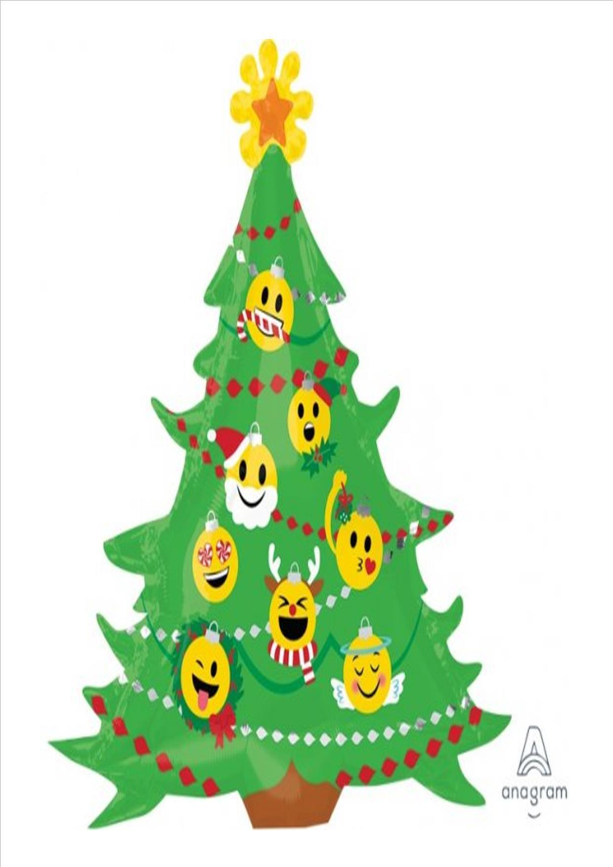 Christmas Tree Balloon.Emoji Christmas Tree Balloon
