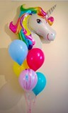 Rainbow Unicorn Latex Balloon Bouquet