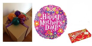 Pink Happy Mothers Day - Balloon In a Box