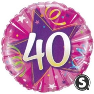 Pink 40th Birthday Balloon In A Box
