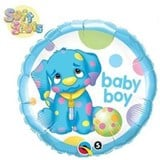Spotty Dog Baby Boy Balloon In A Box