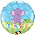 Baby Boy Little Elephant Balloon In A Box