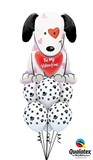 Be My Valentine Puppy Balloon Bouquet