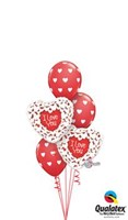 Shimmering Hearts Balloon Bouquet