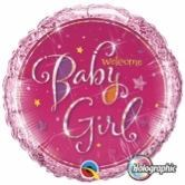 Baby Girl Shimmer Balloon In A Box