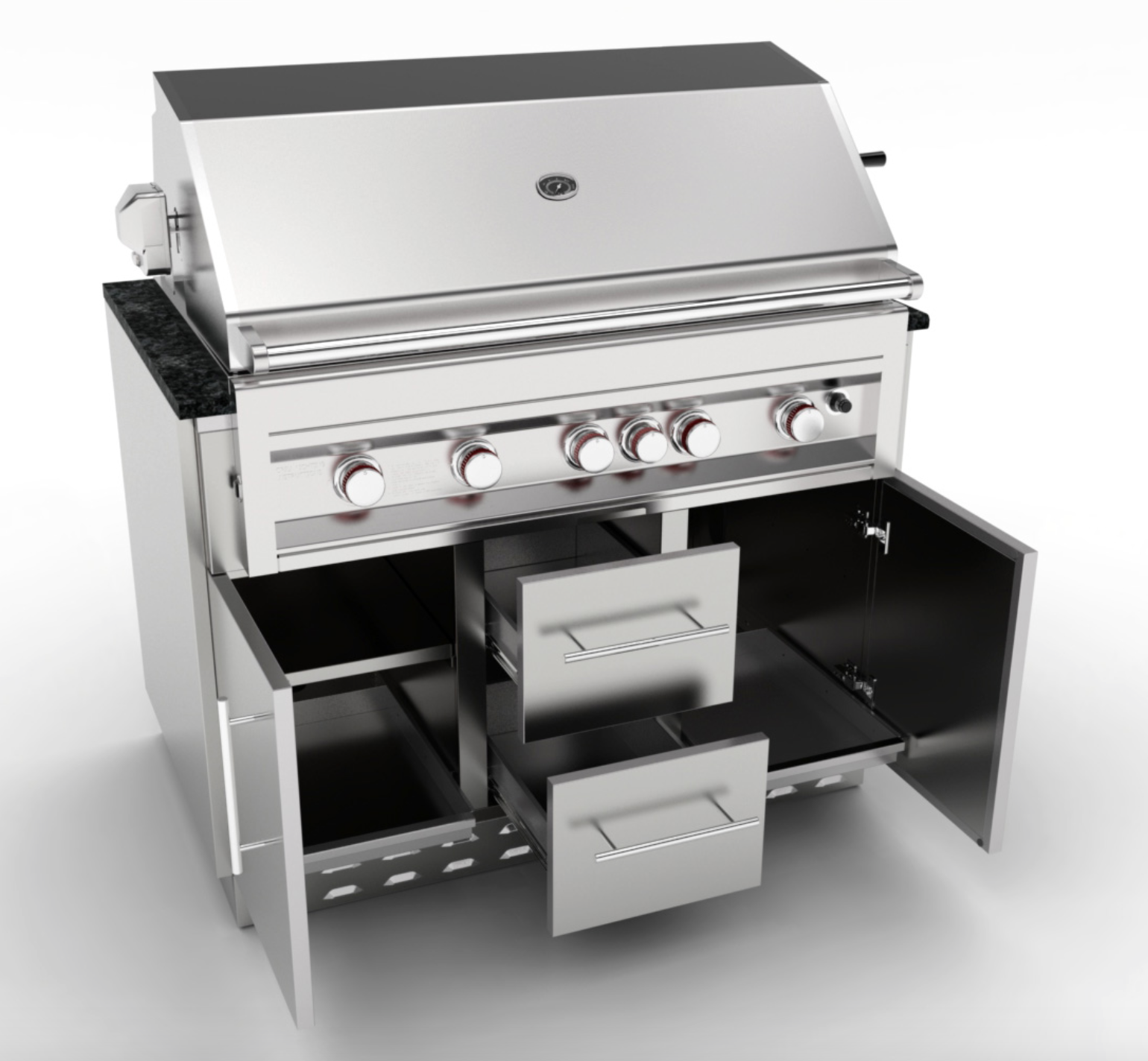 Grill Cabinet: Sunstone 46 Inch Gas Grill Base Cabinet SAC46GLPCD