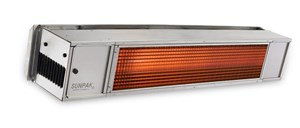 SunPak S34-S-TSH, Stainless Steel Two-Stage Hard Wired Permanent Gas Patio Heater