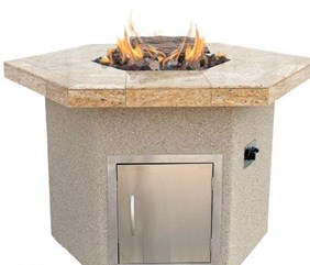 Cal Flame Fire Gas Outdoor Hexagon Fire Pit
