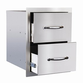 STG Excalibur Premier 17-in. Stainless Steel Double Drawer STGDR-2