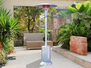 Sunglo A270 SS Fine Portable Liquid Propane Gas Patio Heater Stainless Steel