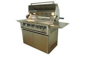 "Allegra 38"" Stainless Steel Grill On Cart With Rotisserie - AHT-AL38FR-T"
