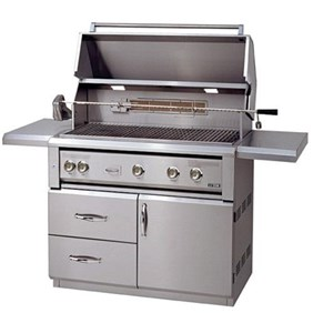 "Luxor 42""Free Standing Gas Grill With Infrared Burners And  Rotisserie - AHT-42FR-L"
