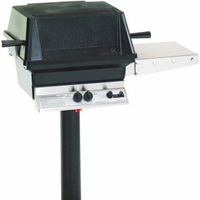 "PGS A30 Cast Aluminum  Grill 48"" Permanent Post/Feed Line On In-ground post A30+APP"