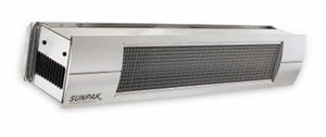 Sunpak S25SNG Natural Gas Infrared Patio Heater Stainless Steel