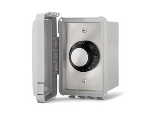 Infratech On/Off Switch - Single Surface Mount With Weatherproof Box  For Electric Heater  14-4410