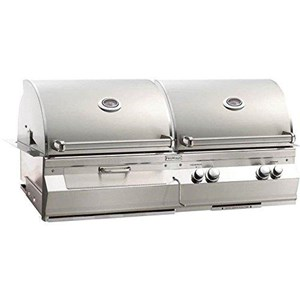 Fire Magic Aurora A830i Built-in Dual Propane Gas And Charcoal Combo Bbq Grill With Rotisserie - A830i-6eap-cb