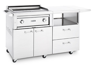 LYNX PROFESSIONAL 30 inch ASADO Grill / Griddle on Mobile Kitchen Cart L30AG-M