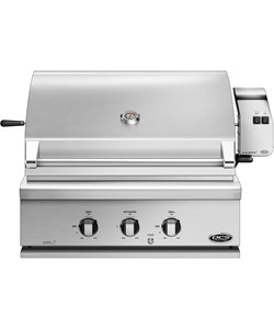 CBB3 LP Bonfire 28-inch-3 burners propane built-in gas grill with infrared rotisserie led lights and cover