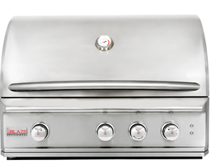 Blaze Professional 34-Inch 3 Burner Built-In Gas Grill With Rear Infrared Burner - BLZ-3PRO