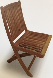 ROYAL TEAK COLLECTION TEAK SAILOR FOLDING SIDE CHAIR( NO ARM REST) # SFCWA