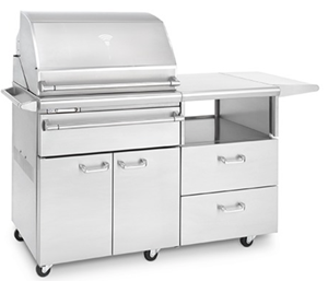 SONOMA BY LYNX SMOKER on Mobile Kitchen Cart LSMKM
