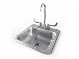 RCS R SERIES STAINLESS STEEL SINK AND FAUCET- RSNK1