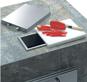 LYNX PROFESSIONAL Countertop Trash Chute with Cutting Board & Cover L18TS